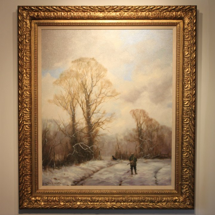 SOLD : Winter Shooting Scene – John Trickett