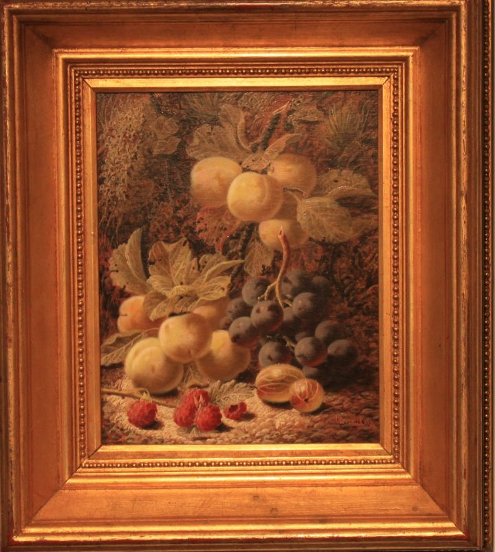 SOLD : Still life of fruit – Oliver Clare