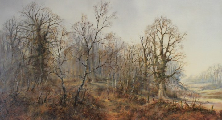 Pheasants in a Wooded Landscape – Colin Burns