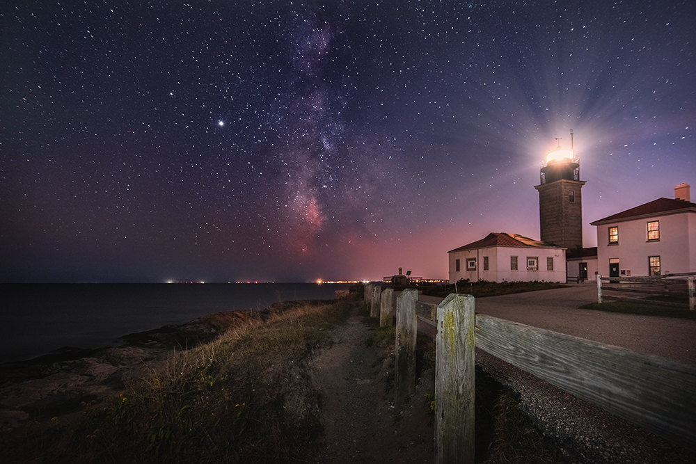 milky way lighthouse