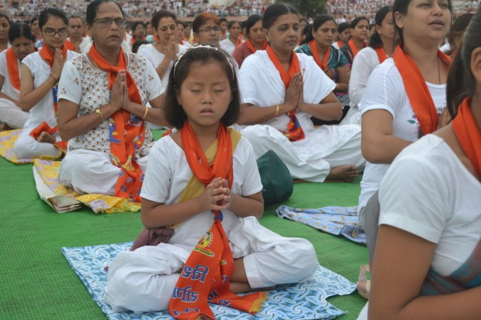 Young & Old All participate in World Yoga Day