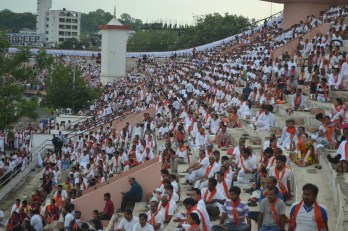 21st June JS Yog International Yoga Day Yashwant Stadium, Nagpur CM Devendra Fadnavis Union Minister Nitin Gadkari_17