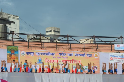 21st June JS Yog International Yoga Day Yashwant Stadium, Nagpur CM Devendra Fadnavis Union Minister Nitin Gadkari_47
