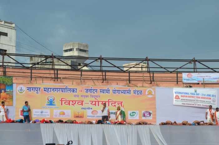 21st June JS Yog International Yoga Day Yashwant Stadium, Nagpur CM Devendra Fadnavis Union Minister Nitin Gadkari_48