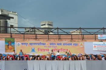 21st June JS Yog International Yoga Day Yashwant Stadium, Nagpur CM Devendra Fadnavis Union Minister Nitin Gadkari_51