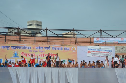 21st June JS Yog International Yoga Day Yashwant Stadium, Nagpur CM Devendra Fadnavis Union Minister Nitin Gadkari_56