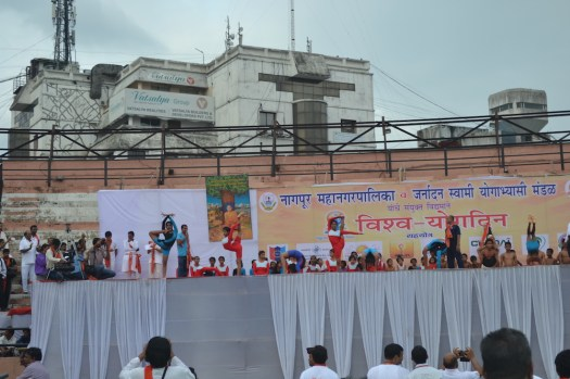 21st June JS Yog International Yoga Day Yashwant Stadium, Nagpur CM Devendra Fadnavis Union Minister Nitin Gadkari_67