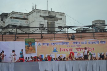21st June JS Yog International Yoga Day Yashwant Stadium, Nagpur CM Devendra Fadnavis Union Minister Nitin Gadkari_73