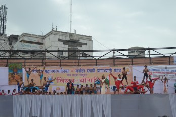 21st June JS Yog International Yoga Day Yashwant Stadium, Nagpur CM Devendra Fadnavis Union Minister Nitin Gadkari_90