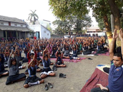 js yog shaleya spardha Students of Adarsh kayna shala-1