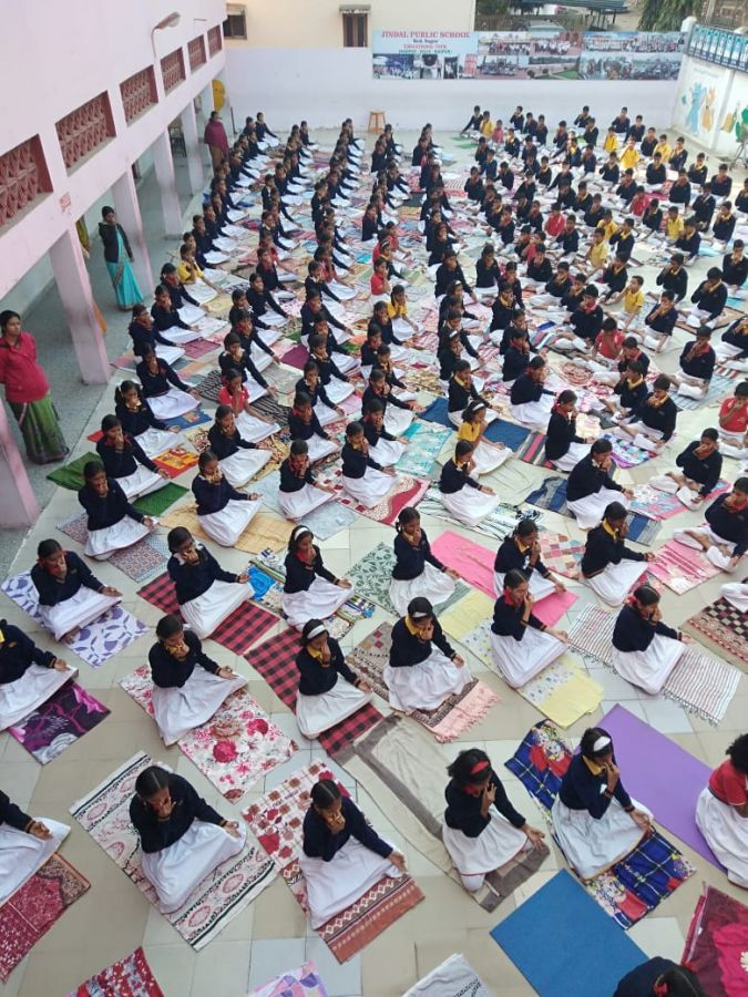 Jindal-public-school-9-12-19-Inter-school-yogasan-competition-training-2019