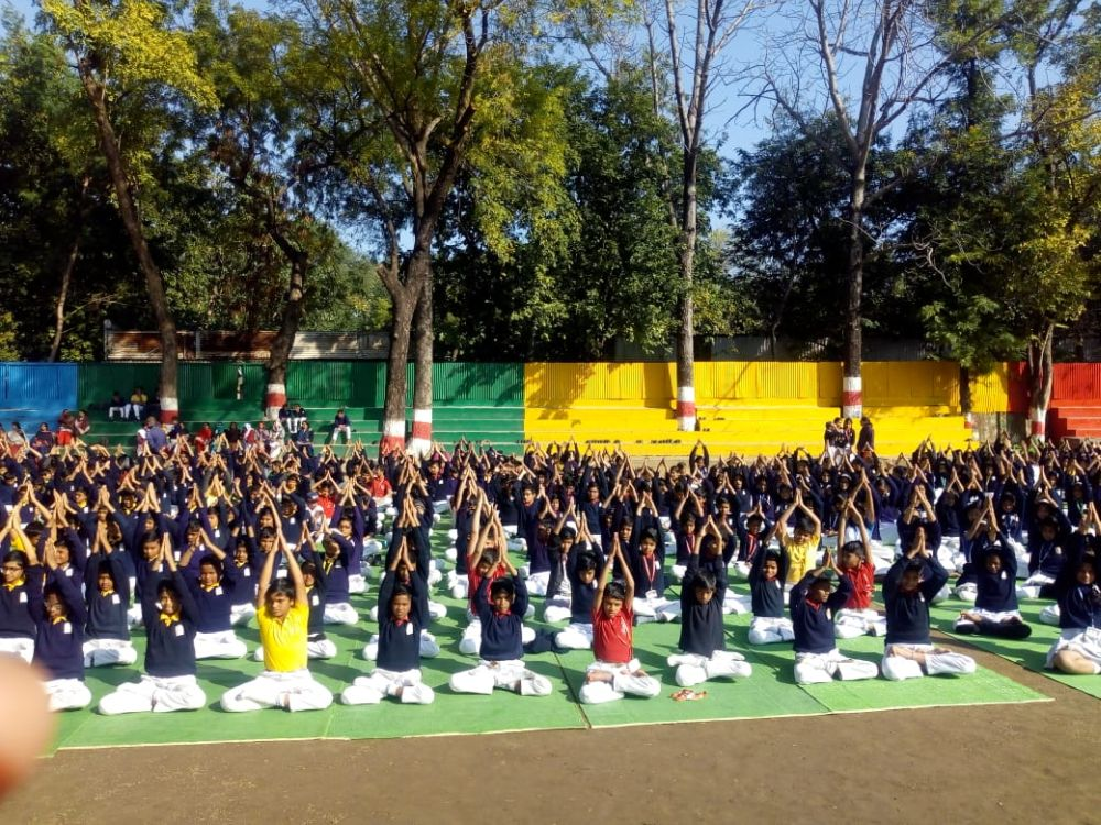 BKVV-School-Telangkhedi-6-1-20-Inter-school-yogasan-competition-training-2019