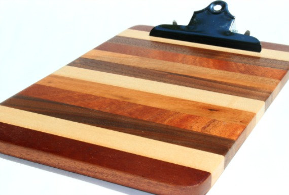 Wooden Clipboard to copy multiple strings