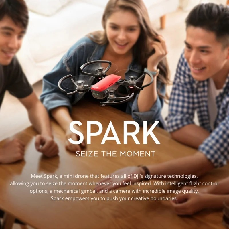 dji spark mini le super mini selfie drone 60 de remise. Black Bedroom Furniture Sets. Home Design Ideas