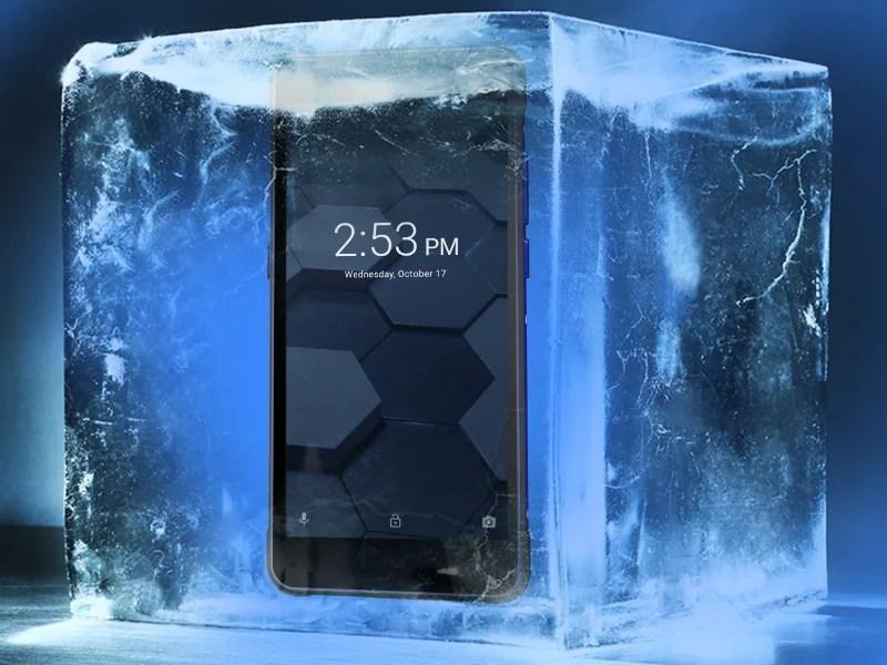 Vidéo test resistance du smartphone Poptel P10, écrasé par une voitures, brulé et congelé...
