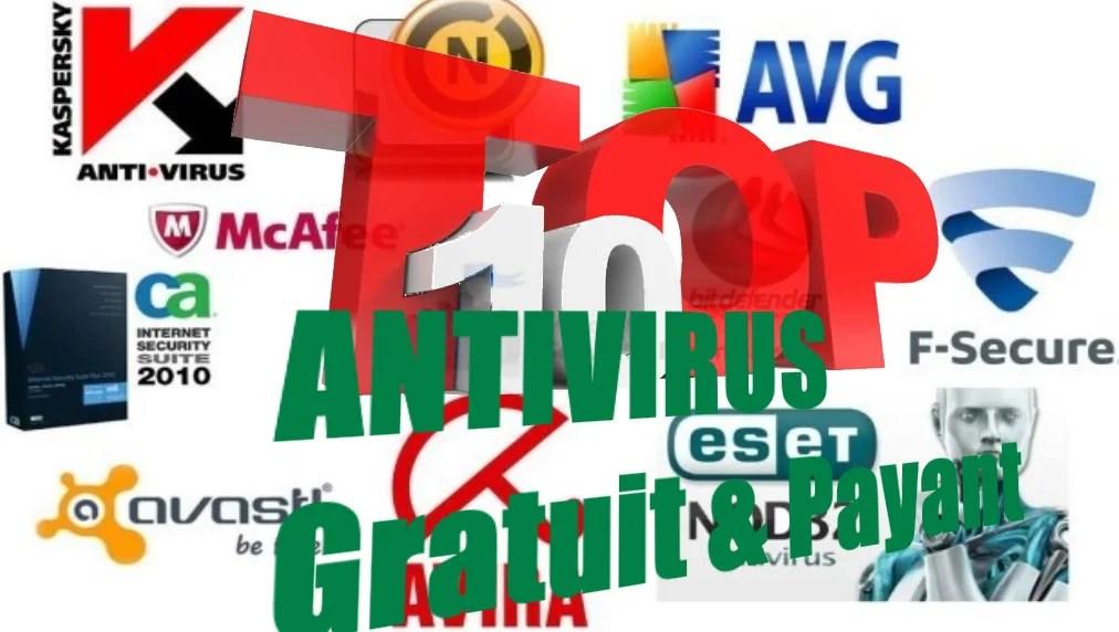 Top 10 meilleurs antivirus gratuits et Meilleurs antivirus Payants.