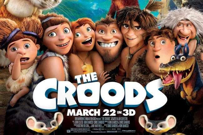 affiche du film d'animation les croods