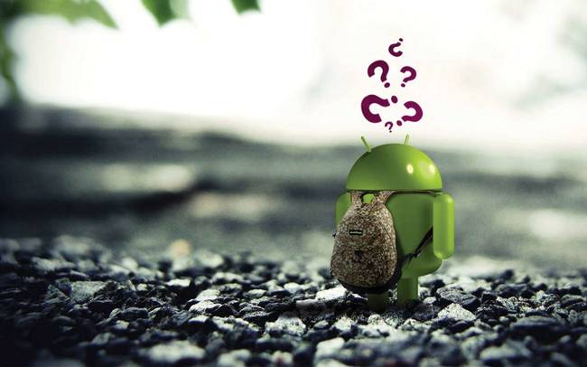 robot android perdu