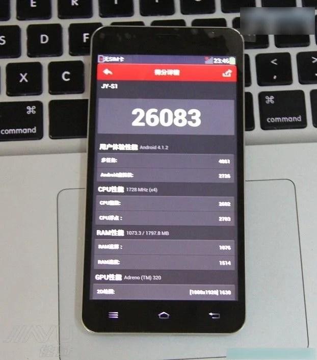 score antutu smartphone android jiayu s1