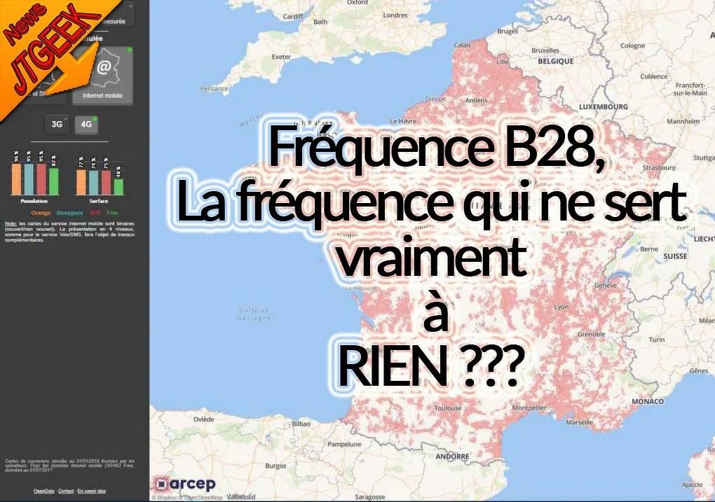 4G B28, la fréquence qui ne sert vraiment à rien ???