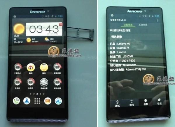 smartphone android lenovo k6