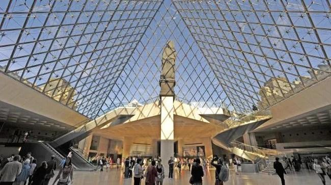 De faux ticket chinois de visites du louvre for Louvre interieur