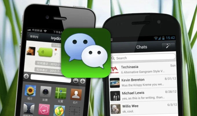 application wechat en chine
