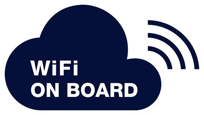 logo wifi à bord