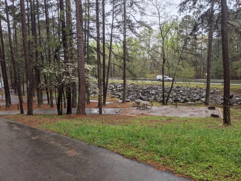 Sawnee campground sites near road