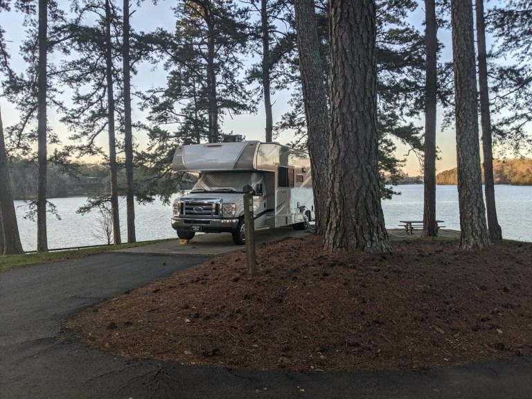 Sawnee campground site 18