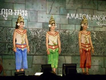 Cambodia Aspara dance costumes in Siem Reap