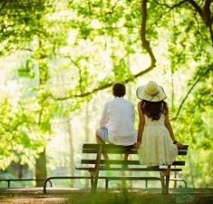 Rajo with Husband in a park