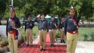 Police Officers are Salute at Yadgar Police Shohada at Yome Shohada 4th august .