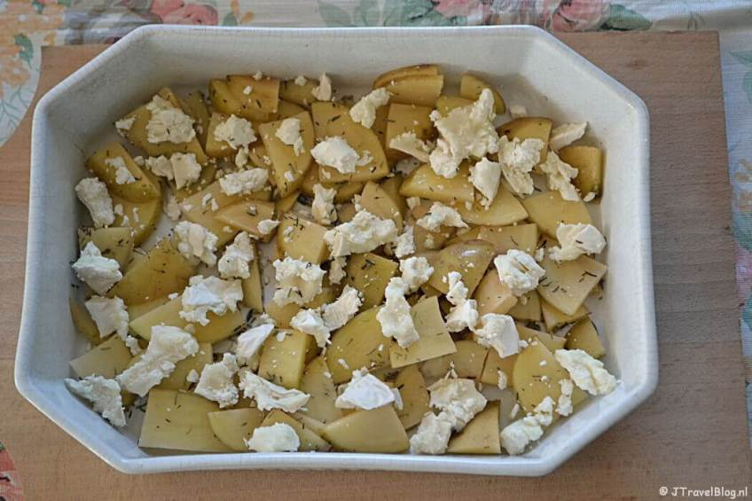 Recept: Aardappelen met geitenkaas