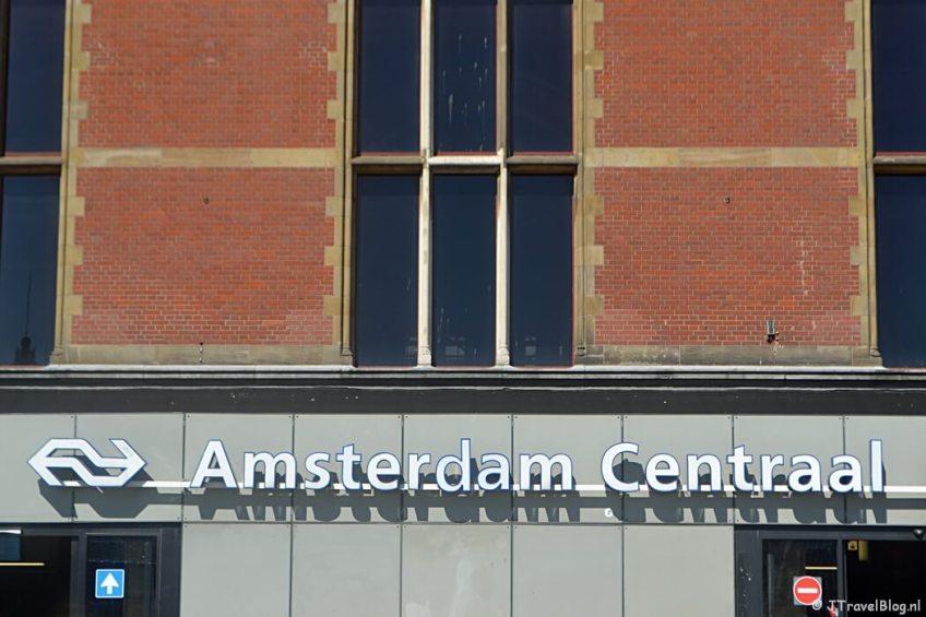 Beginpunt: Amsterdam Centraal Station tijdens etappe 0 van het Westerborkpad