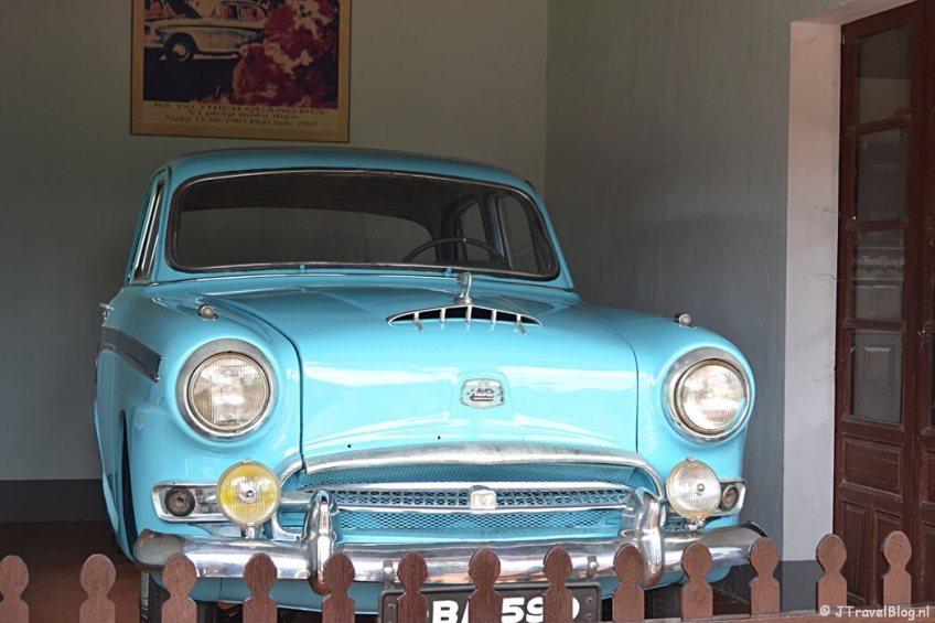 De auto van monnik Thich Quang Duc bij de Thien Mu Pagode in Hué