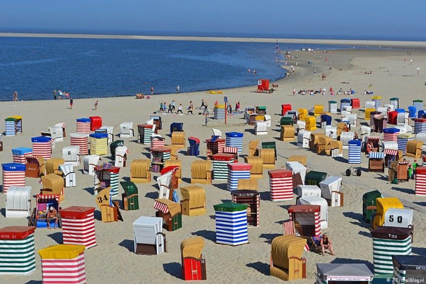 Het strand van het Duitse Waddeneiland Borkum