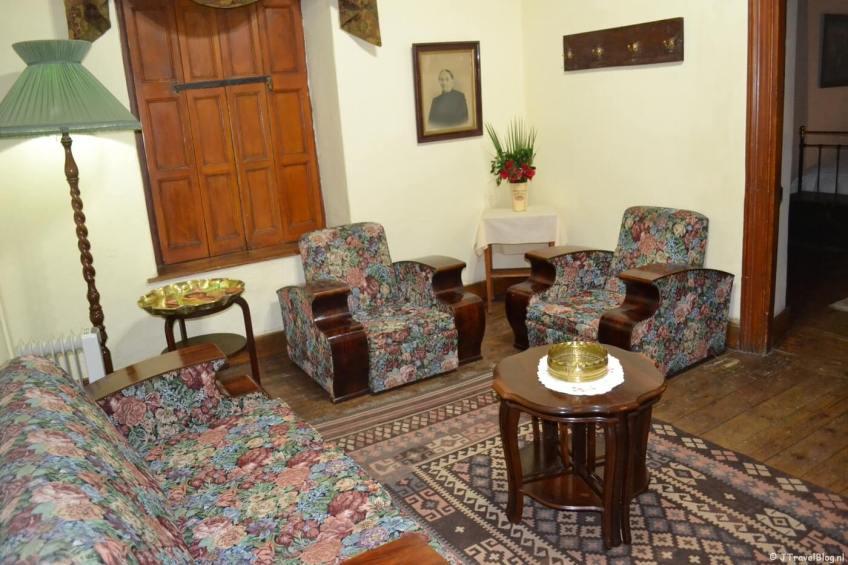 Mijn kamer in Die Dorphuis in Calvinia in Zuid-Afrika