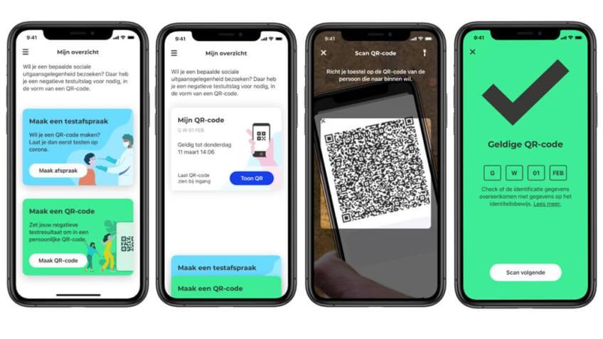 Het maken van een QR-code in de CoronaCheck-app