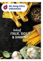Gratis de Italië, Sicilië & Sardinië reisgids bestellen bij De Jong Intra Vakanties