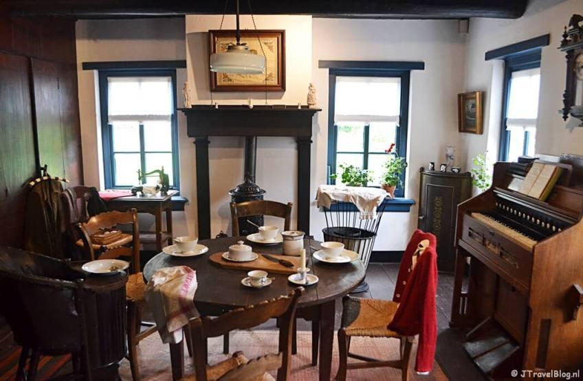 De woning bij de drukkerij in Openluchtmuseum Het Hoogeland in Warffum