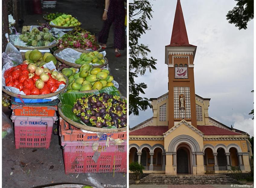De Dong Bamarkt en de Redemptoristenkerk in Hué