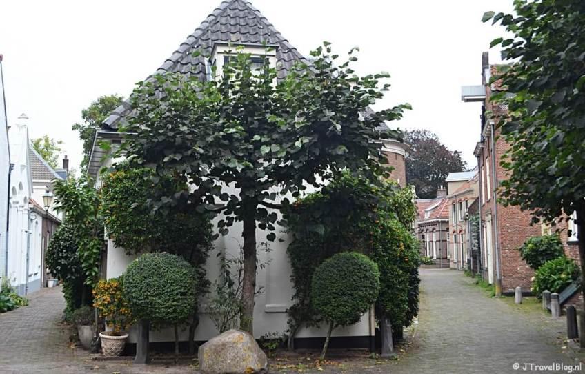 Een huis in Amersfoort tijdens de 9e etappe van het Westerborkpad