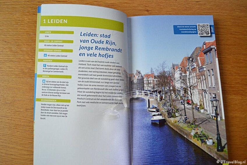 Voorbeeld van een wandeling in de wandelgids 'Wandelen in Rijnland' van Uitgeverij Gegarandeerd Onregelmatig