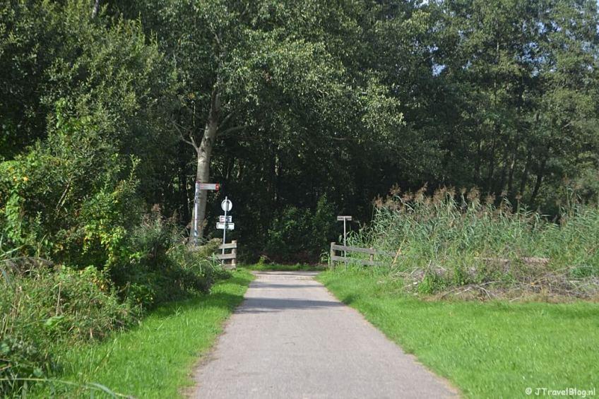 Het Gaaspermolenpad tijdens de 2e etappe van het Westerborkpad