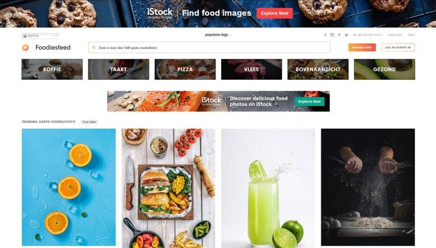 FoodiesFeed: een website met gratis afbeeldingen