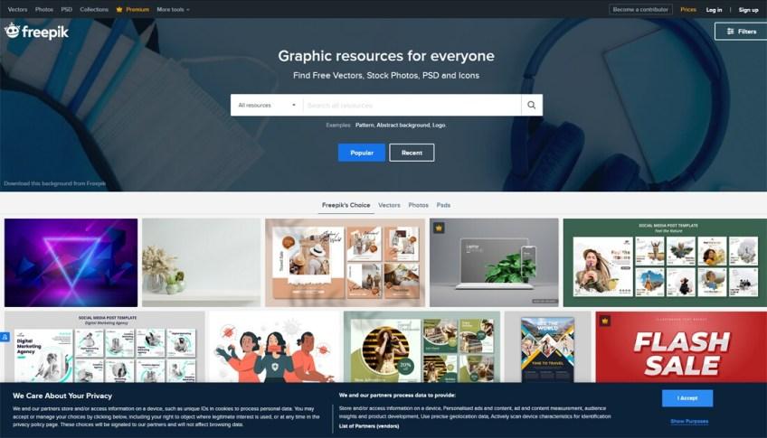 Freepik: een website met gratis afbeeldingen