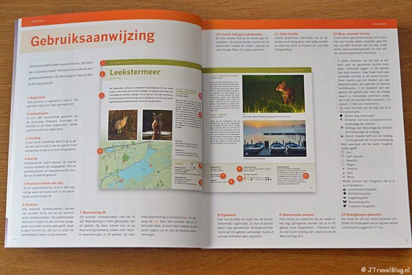 De gebruiksaanwijzing van het boek 'De mooiste fotolocaties van Noord-Nederland'