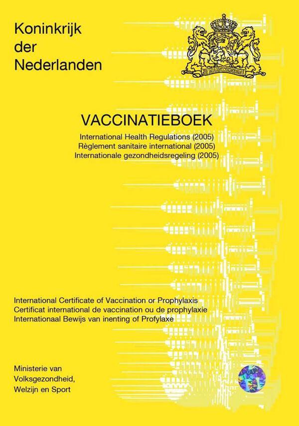 Het gele vaccinatieboekje