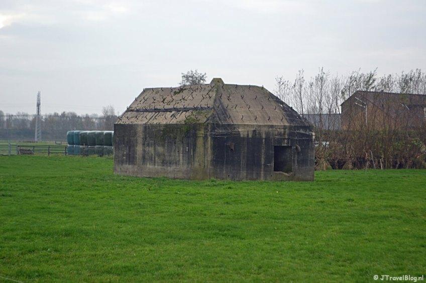 Groepsschuilplaats van het type P aan de Googweg buiten Muiderberg tijdens de 4e etappe van het Westerborkpad